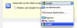 Google Reader Selection